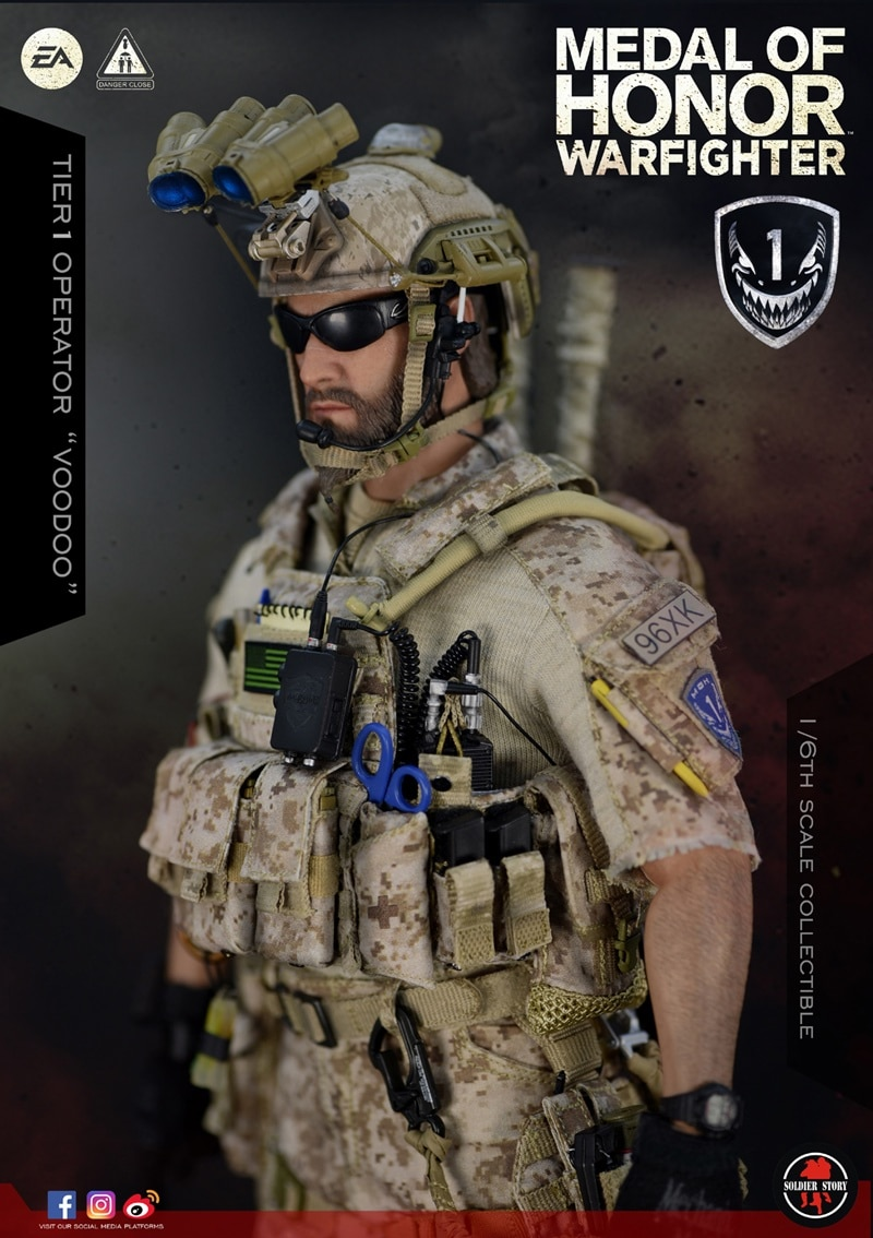 Soldier Story SS106 1//6 Medal Of Honor Navy SEAL VooDoo AOR1 MK17 Rifle Set