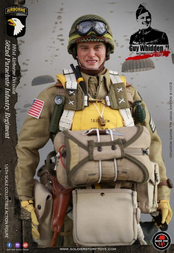 SoldierStory SS110 1//6th WWII 101st Airborne Division Guy Whidden Figure Stand