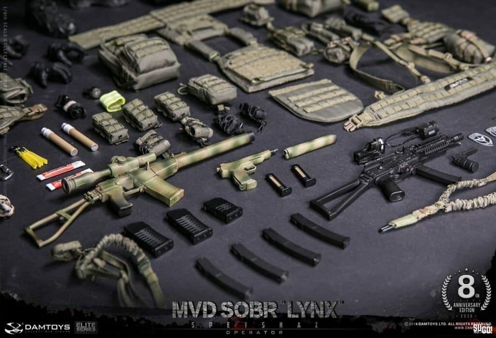 Damtoys Spetsnaz MVD Sober Lynx SPETSNAZ MVD SOBR LYNX 1/6 Figure 78059 8th  Anniversary Edition