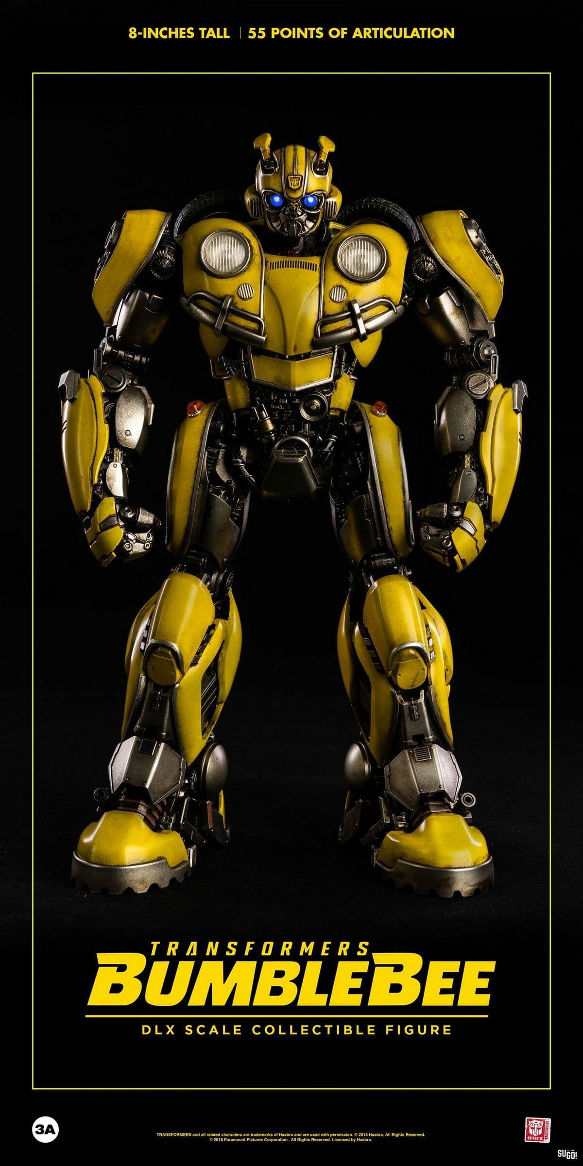 "ThreeA Hasbro x 3 A Transformers Bumblebee 8/"" Scale Action Figure Toys PRE-COMMANDE"