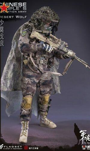 FLAGSET FS73025 1//6 Scale Chinese PLA Desert War Wolf Boonie Hat Model