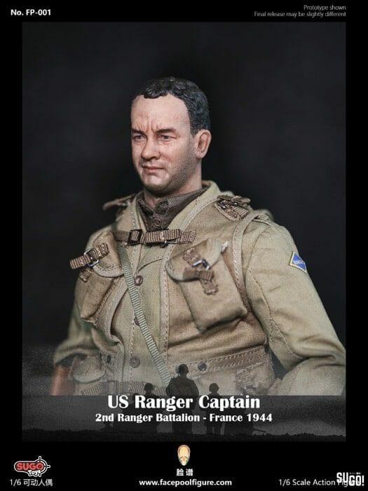 France 1944 US Ranger Captain Jacket Model FP001 1//6 2nd Ranger Battalion