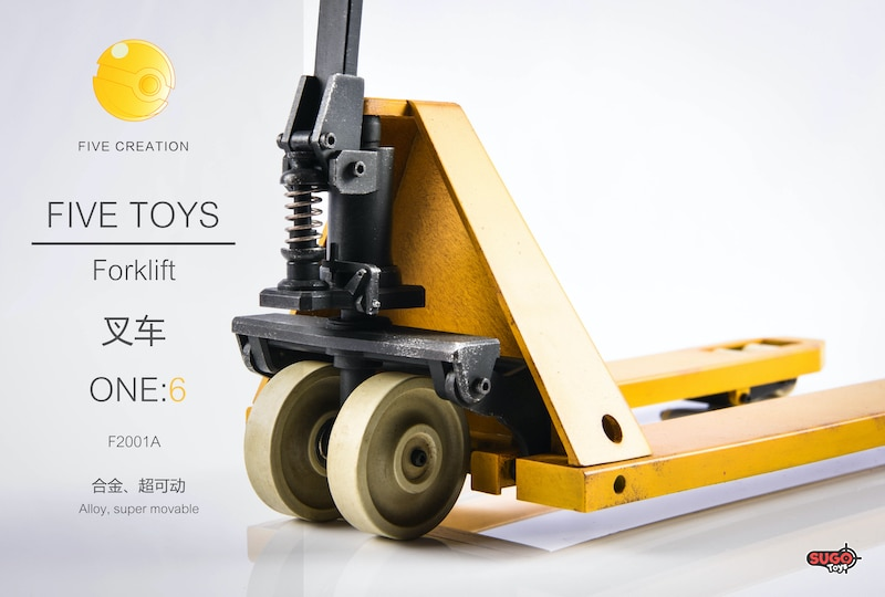 Five Toys Forklift 1//6 Scale Dicast Figure Accessories Set F2001