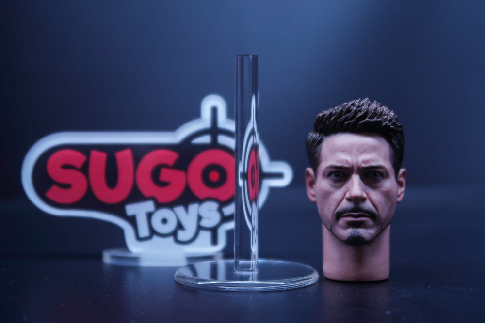 Acrylic 1//6 Scale Head Sculpt Display Stand Set of 3